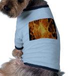Fuego y llamas camisetas de perrito