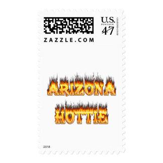 Fuego y llamas de Arizona Hottie Sello Postal