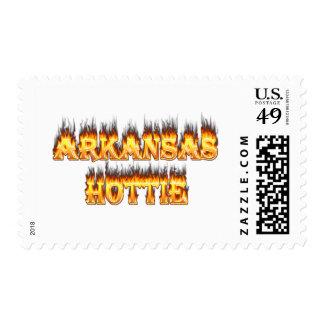 Fuego y llamas de Arkansas Hottie Franqueo