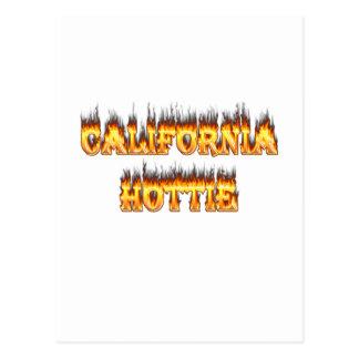 Fuego y llamas de California Hottie Postal
