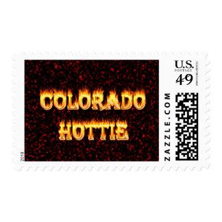 Fuego y llamas de Colorado Hottie Franqueo