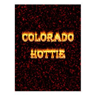 Fuego y llamas de Colorado Hottie Postal