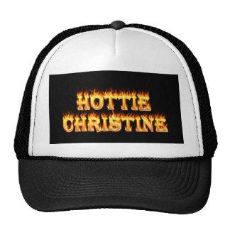 Fuego y llamas de Hottie Christine Gorras De Camionero