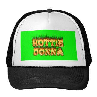 Fuego y llamas de Hottie Donna Gorros Bordados