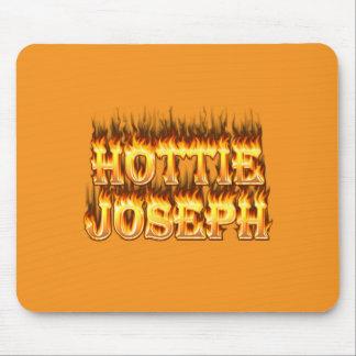 Fuego y llamas de Hottie José Alfombrillas De Ratón