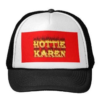 Fuego y llamas de Hottie Karen Gorra