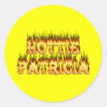 Fuego y llamas de Hottie Patricia Pegatina Redonda