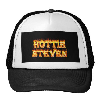 Fuego y llamas de Hottie Steven Gorros Bordados