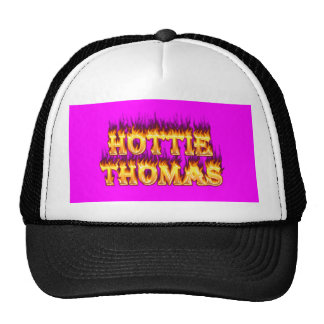 Fuego y llamas de Hottie Thomas Gorras De Camionero
