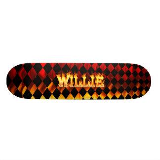 """Fuego y llamas de Hottie Willie Patineta 7 3/4"""""""