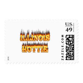 Fuego y llamas de Illinois Hottie Sellos
