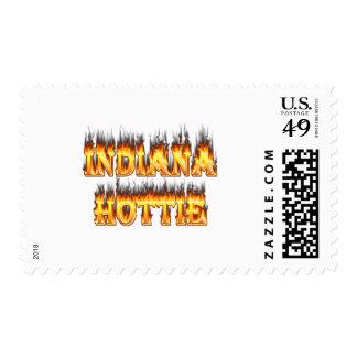 Fuego y llamas de Indiana Hottie Sello