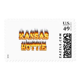 Fuego y llamas de Kansas Hottie Sello