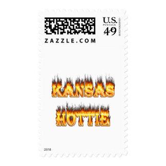 Fuego y llamas de Kansas Hottie Sellos