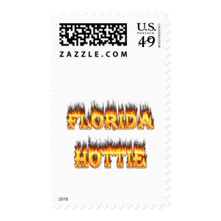 Fuego y llamas de la Florida Hottie Franqueo