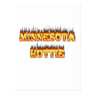 Fuego y llamas de Minnesota Hottie Postal
