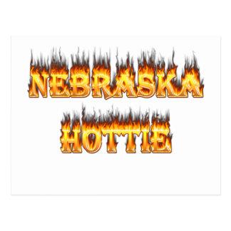 Fuego y llamas de Nebraska Hottie Postal