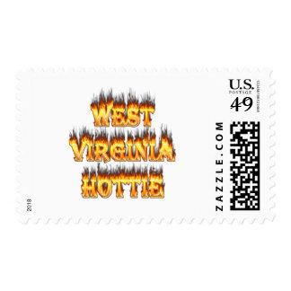 Fuego y llamas de Virginia Occidental Hottie Sello