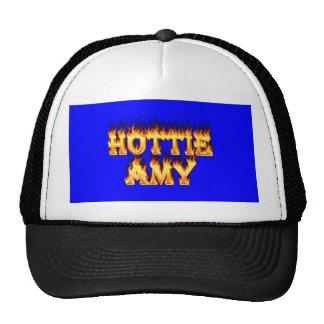 Fuego y llamas del Amy de Hottie Gorras De Camionero