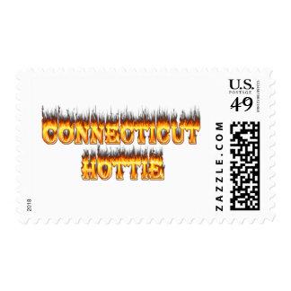 Fuego y llamas del hottie de Connecticut Estampilla