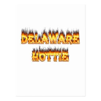 Fuego y llamas del hottie de Delaware Postal