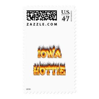 Fuego y llamas del hottie de Iowa Estampilla
