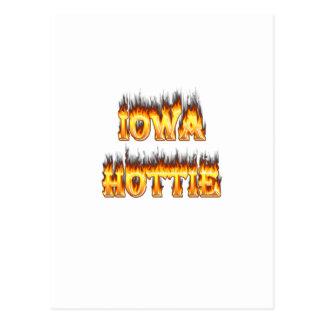 Fuego y llamas del hottie de Iowa Postal