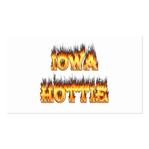 Fuego y llamas del hottie de Iowa Tarjetas De Visita