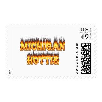 Fuego y llamas del hottie de Michigan Sello