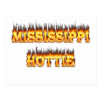 Fuego y llamas del hottie de Mississippi Postal