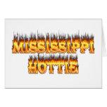 Fuego y llamas del hottie de Mississippi Tarjeton