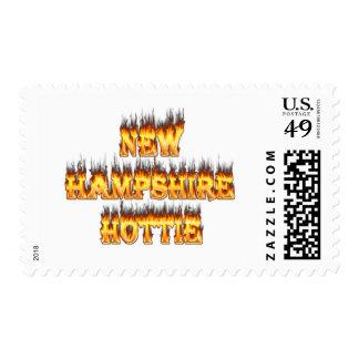 Fuego y llamas del hottie de New Hampshire Sello