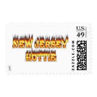 Fuego y llamas del hottie de New Jersey Sellos