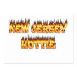Fuego y llamas del hottie de New Jersey Tarjetas De Visita Grandes
