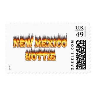 Fuego y llamas del hottie de New México Sello Postal