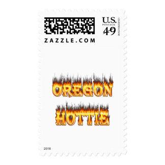 fuego y llamas del hottie de Oregon Sellos
