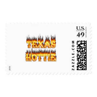 Fuego y llamas del hottie de Tejas Sello
