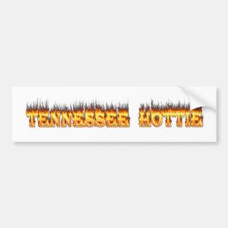 Fuego y llamas del hottie de Tennessee Pegatina Para Auto