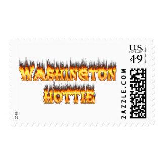 fuego y llamas del hottie de Washington Sello
