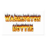 fuego y llamas del hottie de Washington Plantillas De Tarjeta De Negocio