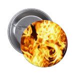 Fuego y llamas que queman diseño ardiente del rega pins