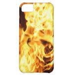 Fuego y llamas que queman la caja ardiente del tel