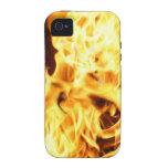 Fuego y llamas que queman la caja ardiente del tel vibe iPhone 4 funda