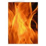 Fuego y llamas tarjeta