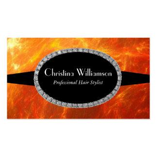 Fuego y llamas tarjeta personal