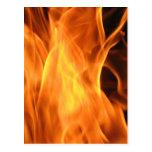 Fuego y llamas tarjetas postales