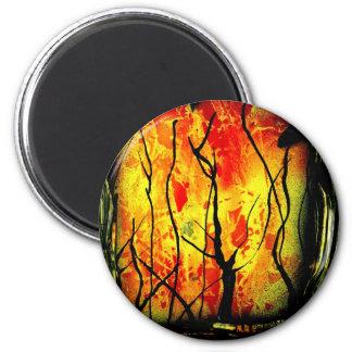 Fuego y pintura quemada de la pintura de aerosol d imanes