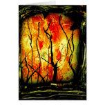 Fuego y pintura quemada de la pintura de aerosol d tarjeton