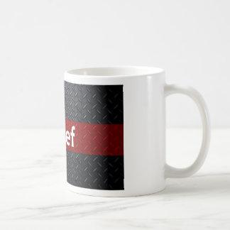 Fuego y placa del diamante del rescate taza de café