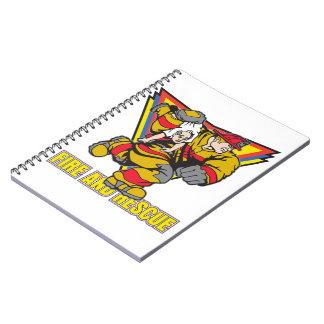 Fuego y rescate cuaderno
